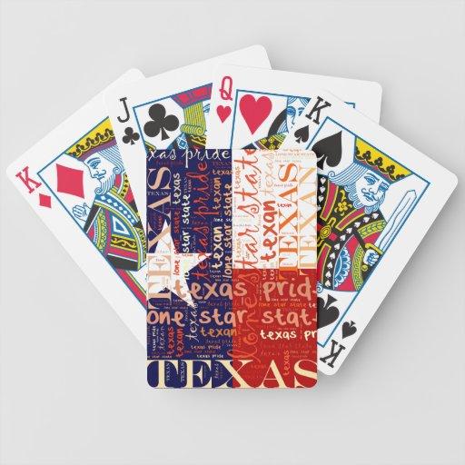 Texas Bicycle Card Deck
