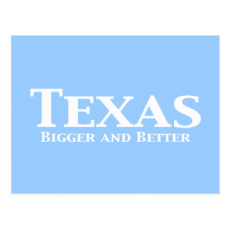 Texas Bigger and Better Gifts Postcard