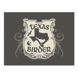 Postcard with Texas Birder design