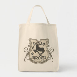 Grocery Tote with Texas Birder design
