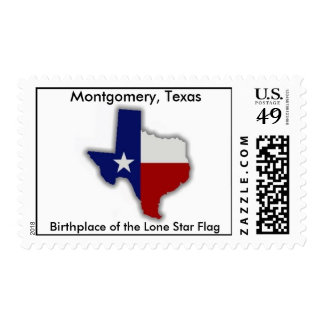 texas, Birthplace of the Lone Star Flag, Montgo... Postage Stamp