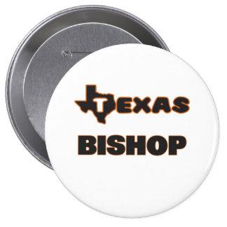 Texas Bishop 4 Inch Round Button