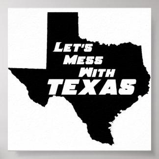 Texas Black Poster