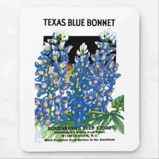 Texas Blue Bonnet Seed Packet Label Mouse Pad