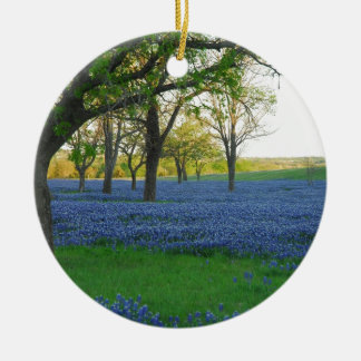 Texas Blue Bonnets Ceramic Ornament