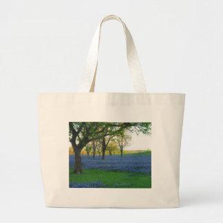 Texas Blue Bonnets Jumbo Tote Bag