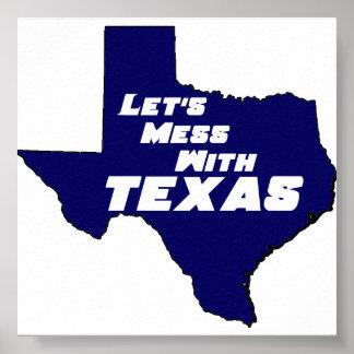 Texas Blue Poster