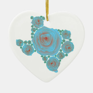 Texas Blue Rose Ceramic Ornament