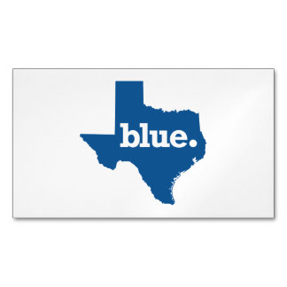 TEXAS BLUE STATE BUSINESS CARD MAGNET