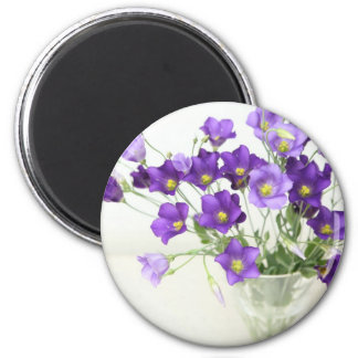 Texas Bluebell 2 Inch Round Magnet