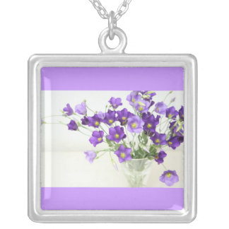 Texas Bluebell Silver Plated Necklace