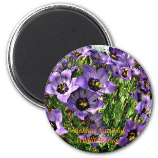 Texas Bluebells 2 Inch Round Magnet