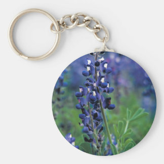 Texas Bluebonnet-2-Best Basic Round Button Keychain