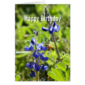 Texas Bluebonnet Happy Birthday Card