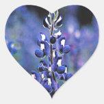 Texas Bluebonnet Heart Sticker