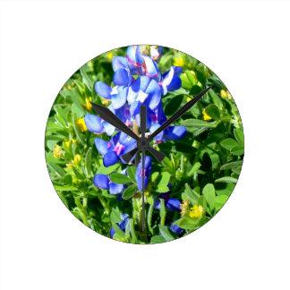 TEXAS BlueBonnet Round Wall Clock