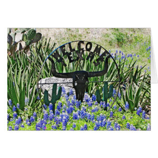 Texas Bluebonnet Welcome Stationery Note Card