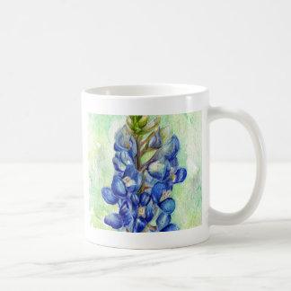 Texas Bluebonnet Wildflower Drawing Coffee Mug