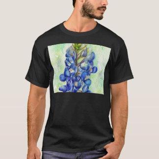 Texas Bluebonnet Wildflower Drawing T-Shirt