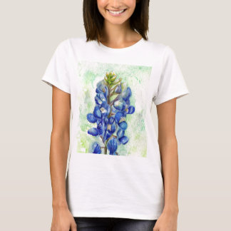Texas Bluebonnet Wildflower Drawing T-Shirt