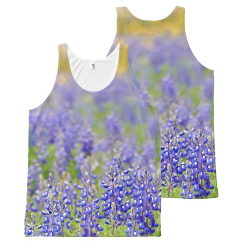 Texas Bluebonnets All-Over-Print Tank Top