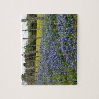 Texas Bluebonnets Can Art Photography Jigsaw Puzzle