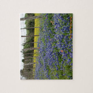 Texas Bluebonnets Can Art Photography Puzzle