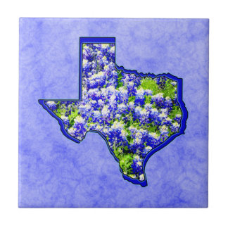 TEXAS BLUEBONNETS CERAMIC TILE