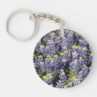 Texas Bluebonnets Double-Sided Key Chain