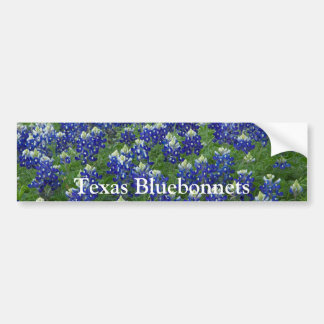 Texas Bluebonnets Field Photo Bumper Sticker