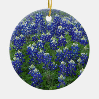 Texas Bluebonnets Field Photo Ceramic Ornament
