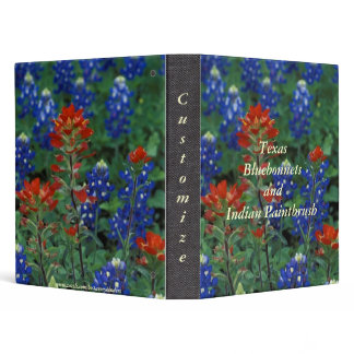Texas Bluebonnets/Indian Paintbrush Avery Binder