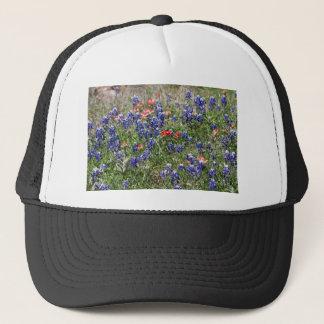 Texas Bluebonnets & Indian Paintbrush Wildflowers Trucker Hat