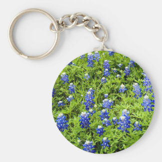 Texas Bluebonnets Basic Round Button Keychain