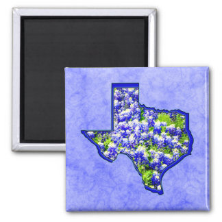 TEXAS BLUEBONNETS 2 INCH SQUARE MAGNET