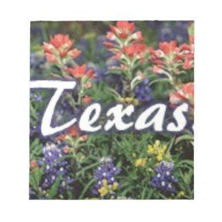Texas Bluebonnets Paintbrushes Notepad