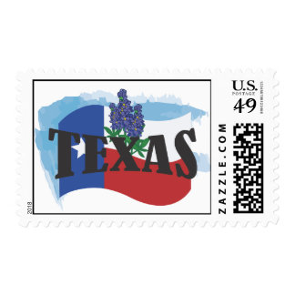 Texas Bluebonnets Postage Stamp