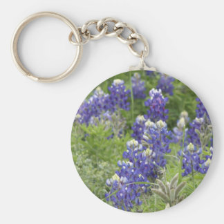 Texas Bluebonnets Series #2 Basic Round Button Keychain