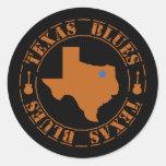 Texas Blues Classic Round Sticker