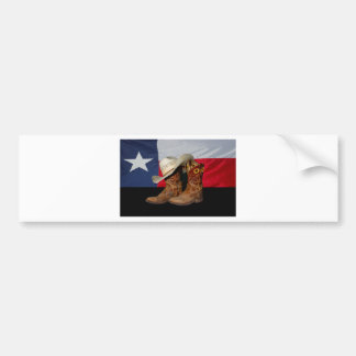 Texas Boots and Hat.jpg Bumper Sticker