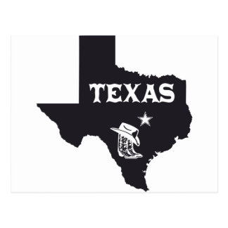 Texas Boots Lone Star Design U.S. Custom Ink Postcard