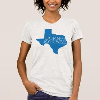 Texas Born and Raised-Blue T-shirt