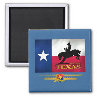 Texas Born & Bred 2 Inch Square Magnet