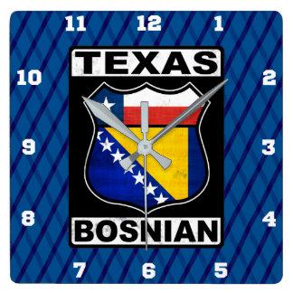 Texas Bosnian American Sign Clock