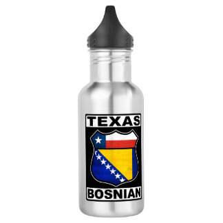 Texas Bosnian American Water Bottle