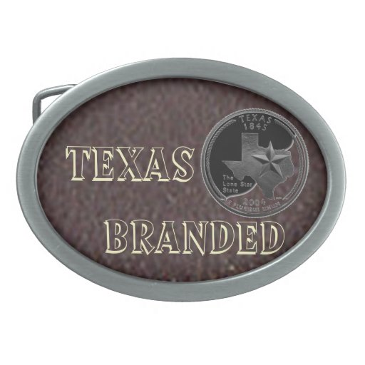 Texas Branded Belt Buckle