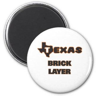 Texas Brick Layer 2 Inch Round Magnet