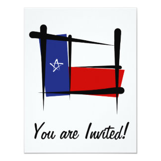 Texas Brush Flag 4.25x5.5 Paper Invitation Card
