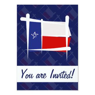 Texas Brush Flag 5x7 Paper Invitation Card