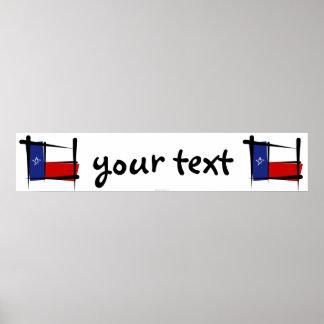 Texas Brush Flag Banner Poster
